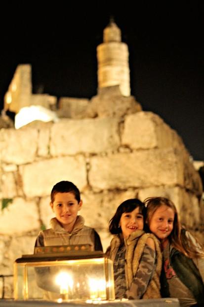 חנוכה לילדים במגדל דוד. צלום ריקי רחמן