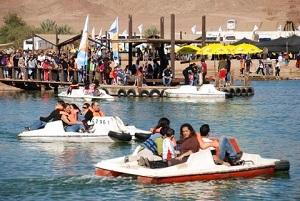 """סירות פדאלים בפארק צילום יח""""צ"""